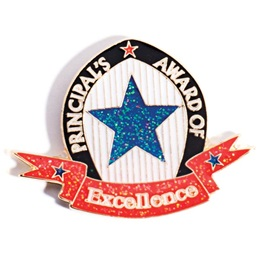 Principal's Award Pin - Blue Glitter Star