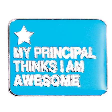 "Award Pin - ""I Am Awesome"" Principal's Award"