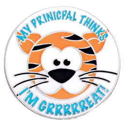 "Award Pin - ""I'm Grrr-eat"" Principal's Award"