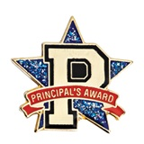 Principal's Award Pin - Star and Letter