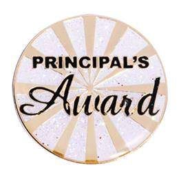 Principal's Award Pin - Gold Burst