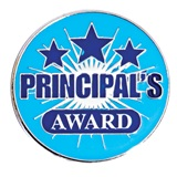 Principal's Award Pin - Blue Shooting Stars