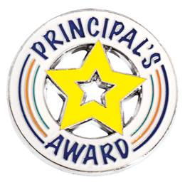 Die Cut Principal's Award Star Pin