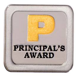 Gold and Silver Glitter Principal's Award Pin