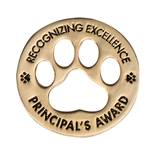 Principal's Award Pin - Recognizing Excellence Paw