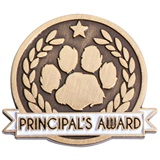 Principal's Award Pin - Brushed Metal Paw