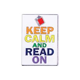 Reading Award Pin - Keep Calm and Read On