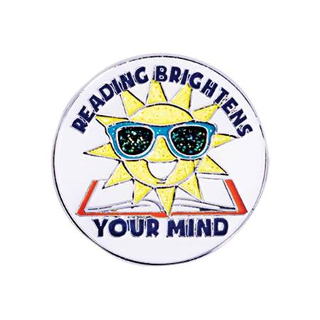 Reading Award Pin - Reading Brightens Your Mind