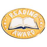 Oval Reading Award with Book Pin