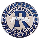 Blue and Silver Accelerated Reader Award Pin