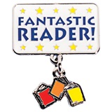 Reading Award Pin - Dangling Books