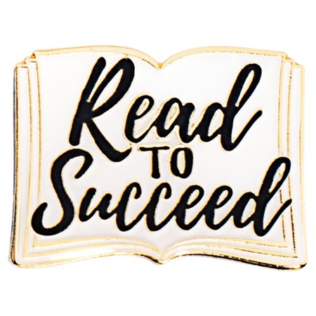 Read to Succeed Book Pin