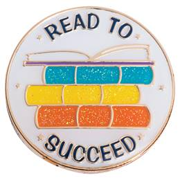 Reading Award Pin - Glitter Read to Succeed Books