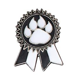 Black Paw Sunflower Ribbon Pin