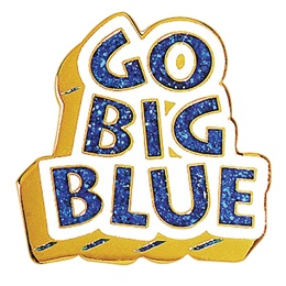 School Spirit Award Pin - Glitter Go Big Blue