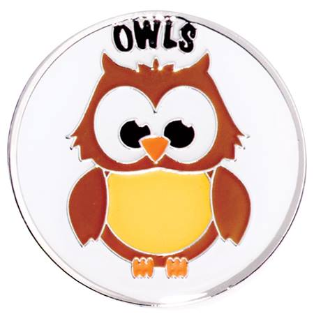 Award Pin - Owls Mascot