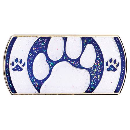 Peek-a-Boo Paw Award Pin - Blue and White