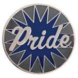 Grey and Blue Pride Pin