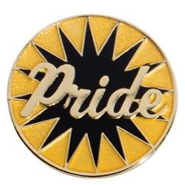 Black and Gold Starburst Pride Pin
