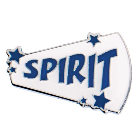 Blue Spirit Megaphone with Stars Pin