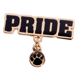 Black and Gold Paw Pride Pin