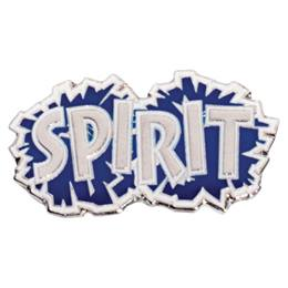 Blue and Silver Spirit Poms Pin