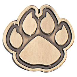 Gold Metal Paw Pin