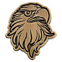 Gold Metal Eagle Pin