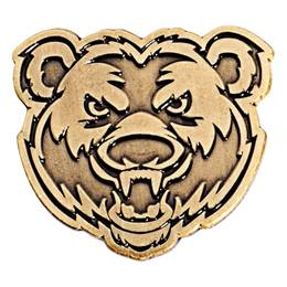 Gold Metal Bear Pin