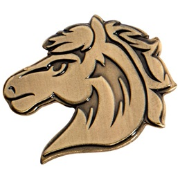 Gold Metal Horse Pin