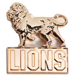 3D Mascot Award Pin - Molded Gold Lions