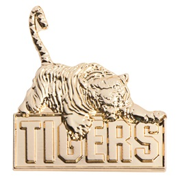 3D Mascot Award Pin - Molded Gold Tigers