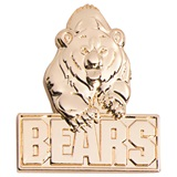 3D Mascot Award Pin - Molded Gold Bears