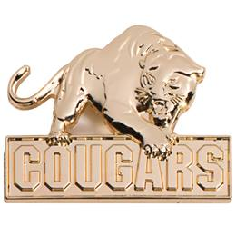 3D Mascot Award Pin - Molded Gold Cougars