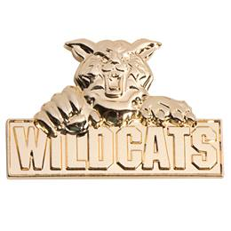 3D Mascot Award Pin - Molded Gold Wildcats