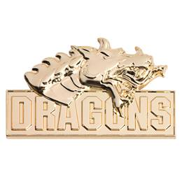 3D Mascot Award Pin - Molded Gold Dragons