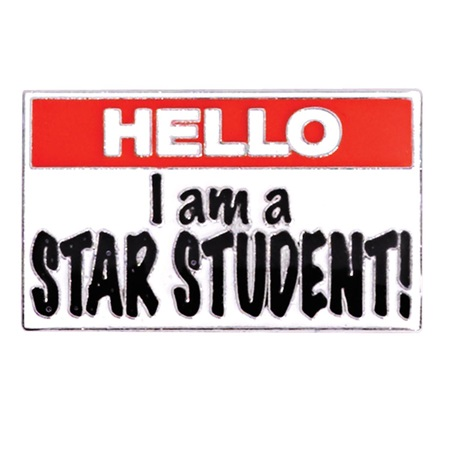 Award Pin - Hello, I am a Star Student