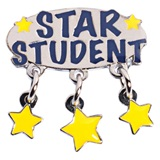 Star Student Dangling Stars Pin