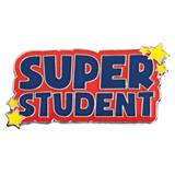 Super Student with Stars Pin