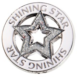 Glitter Shining Star Die Cut Pin