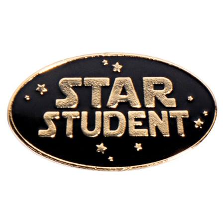 Star Student Oval Pin