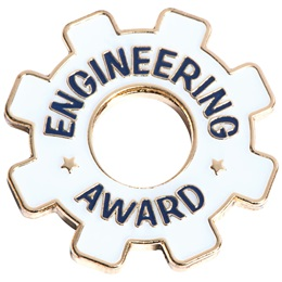 Engineering Award Pin - Die Cut Gear