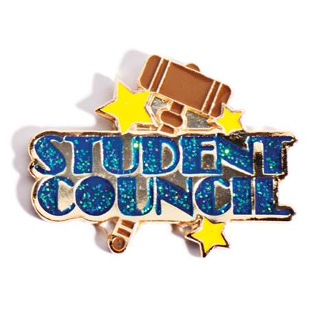Student Council Award Pin - Glitter