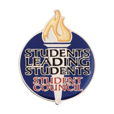 Student Council Award Pin - Students Leading Students Torch