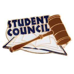 Student Council Book and Gavel Pin