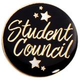 Student Council Black and Gold Stars Pin