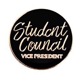 Student Council Vice President Black and Gold Pin