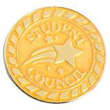 Student Council Gold Shooting Star Pin