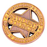 Student Council Star Die Cut Pin