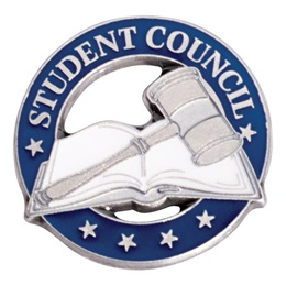 Student Council Book and Gavel Die Cut Pin